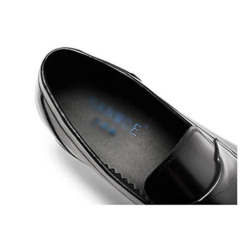 Casual Negocios Caballero Zapatos LYZGF Lazy Cuero Moda De Black Juventud Hombre WTCxnZFZp