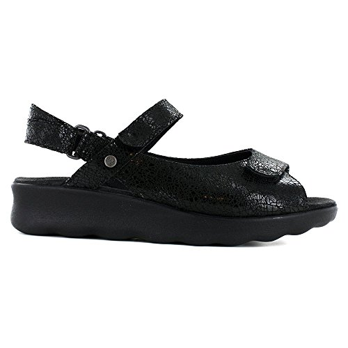 Pichu 01890 Comfort Suede Wolky Crash Sandals Black P0qxBw