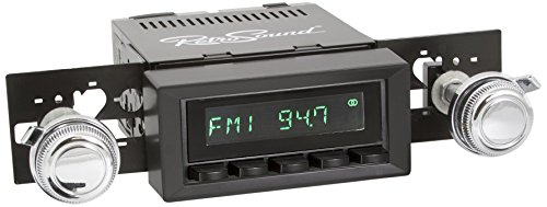 Price comparison product image RetroSound M2B-216-03-73 Model Two Direct-Fit Radio for Classic Vehicles (Black Face / Buttons and Black Bezel)