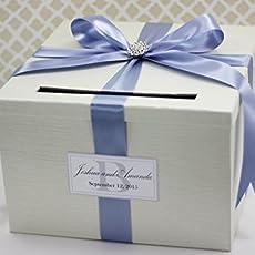 Amazon.com: Wedding Card Holder Box Silver and Plum Purple ...
