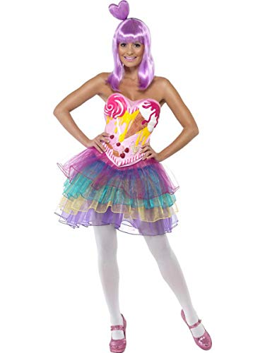 (Fest Threads 1 PC California Girl Celebrity Katy Candy Printed Tutu Dress Party Costume)