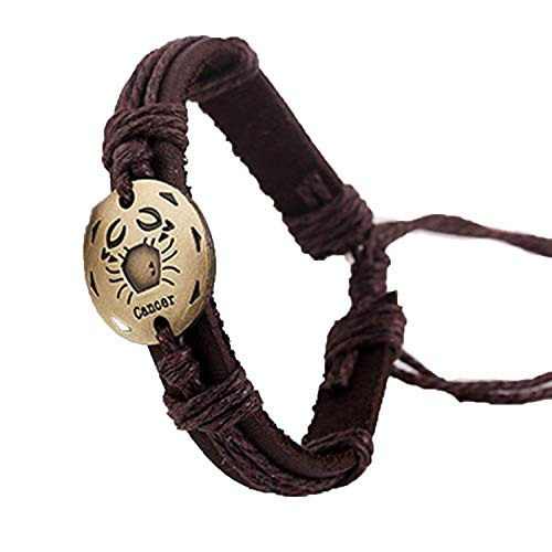 Mannerg bracelets Vintage Woven 12 Constellation Leather for sale  Delivered anywhere in USA