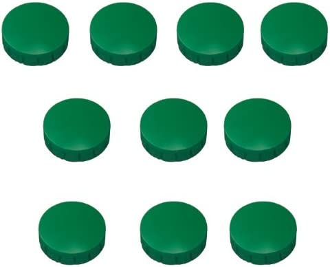 10er Pack Durchmesser 32mm Farbe grün Franken Haftmagnete