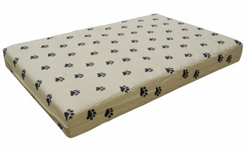 Go Pet Club PP-40 Memory Foam Orthopedic Dog Pet Bed, 40 by 28 by 3-Inch, Tan