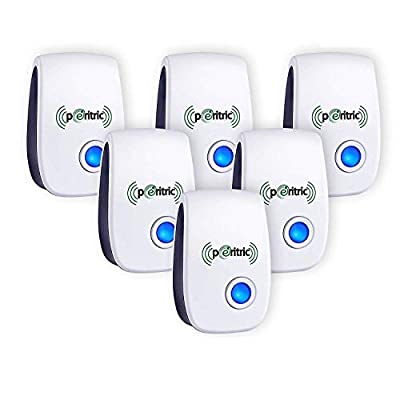 LOVATIC Ultrasonic Pest Repellent 6 Packs - Indoor Plug, Electronic and Ultrasound - Insects, Mosquitoes, Mice, Spiders, Ants, Rats, Roaches, Bugs Control - Eco Friendly Product, Safe for Human