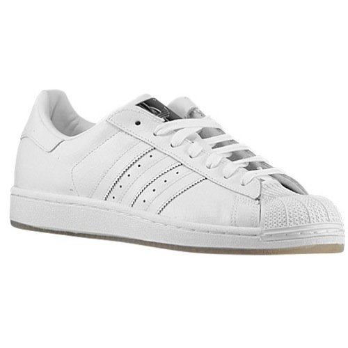 Adidas Originali Mens Superstar Casual Sneake Bianco / Bianco / Bianco