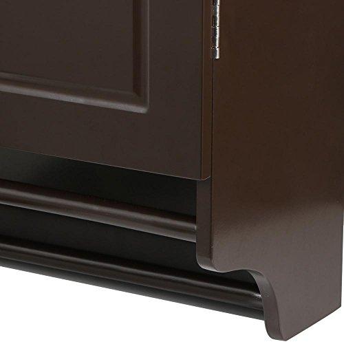 go2buy Wall Mounted Cabinet Kitchen/Bathroom Wooden Medicine Hanging Storage Organizer, Espresso by go2buy (Image #7)