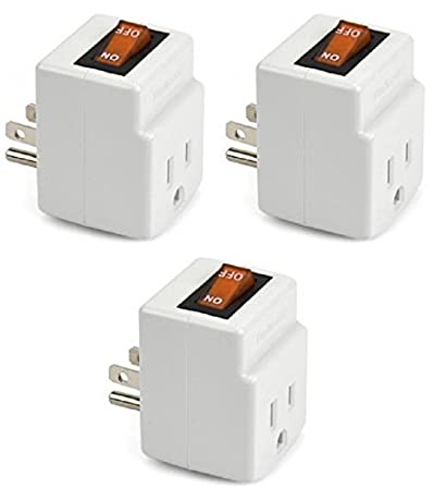 new 3 prong grounded single port power adapter for outlet with
