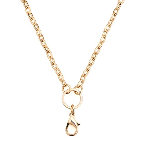 CharmsStory Chain Necklace Floating Lockets