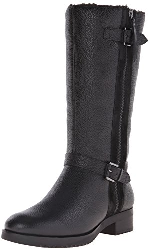 Leather & Shearling Tall Boot - 9