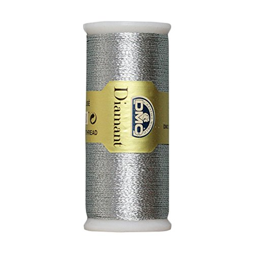 DMC Diamant Metallic Needlework Thread, 38.2-Yard, Dark Silver