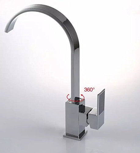 Hot and cold faucet copper rotated 360 degrees sinks square faucet by Cyber E-business Ltd