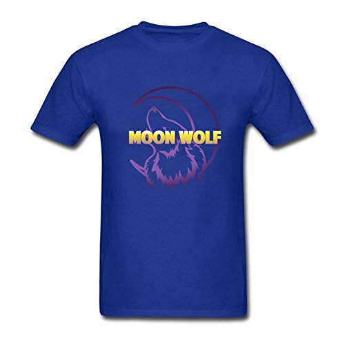 design-tee-adult-man-wolf-howling-at-the-moon-t-shirt-100-cotton-tee-royal-blue-xs