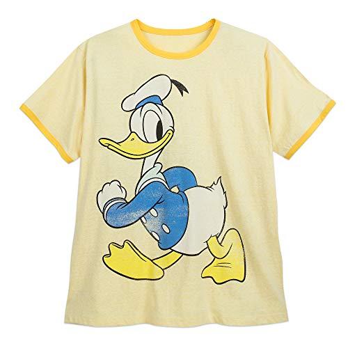 Disney Donald Duck Ringer T-Shirt for Men - Extended Size Size 3XL Multi