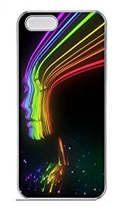 Rainbow Color Profile Customized Popular DIY Hard Back Case Cover For iPhone 5 5S Hard Transparent