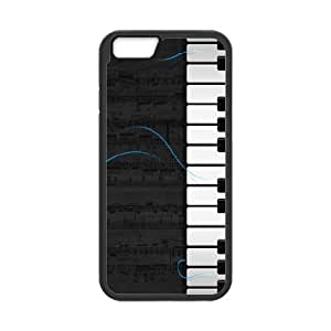 Tyquin Piano Cases For iPhone 6 Plus Fashion, Luxury Case For Iphone 6 Plus 5.5 For Teen Girls Protective With Black