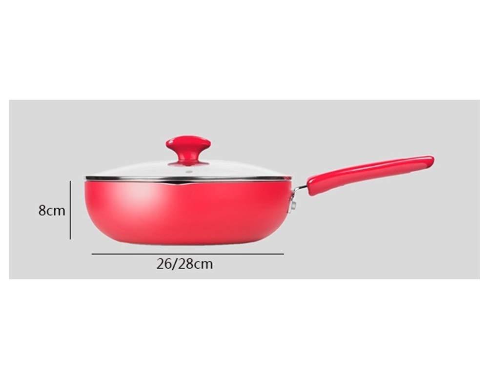 WYQSZ Wok - Non-stick cooker non-stick wok flat bottom non-stick wok kitchen cooking multi-function wok -fry pan 2365 (Capacity : B) by WYQSZ (Image #2)