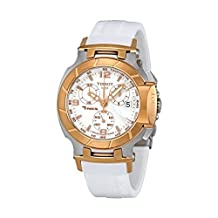 Tissot T-Race Chronograph White Rubber Strap Ladies Watch T0482172701700