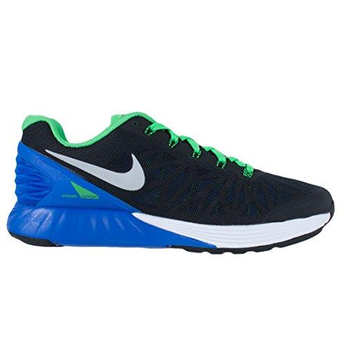 Nike Lunarglide 6, Unisex - bambini Nero/Blu/Verde