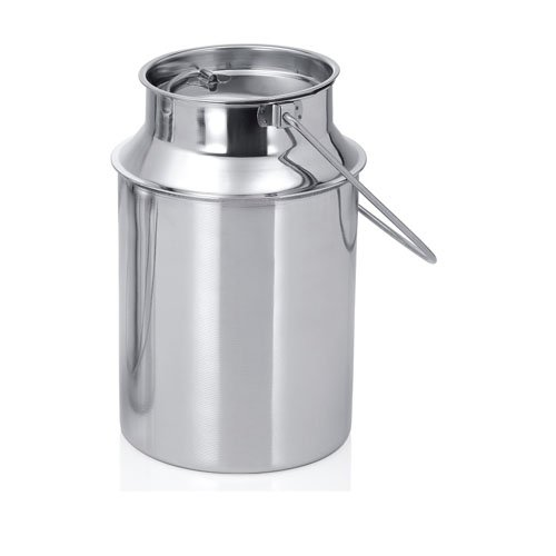 King International 100% Stainless Steel Milk Storage Can Milk Canister Doli | Dolu | Dolchi Milk Bucket Gallon Milker - 2 liter with Lid- Ideal For Storing and Transporting Liquid (Ideal Milk)