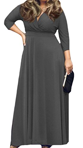 Length Full Grey Comfy Dress Color Pure Swing Womens Elegent Oversized qwPYR