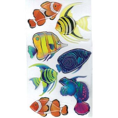 Le Grande Vellum Dimensional Stickers - Vellum Tropical Fish Jolee's Boutique Le Grande Dimensional Stickers 50-50095