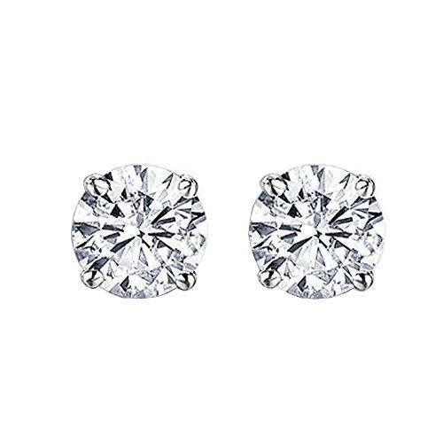 Dazzlingrock Collection IGI CERTIFIED 0.75 Carat (ctw) 14K Round Diamond Ladies Solitaire Stud Earrings 3/4 CT, White ()
