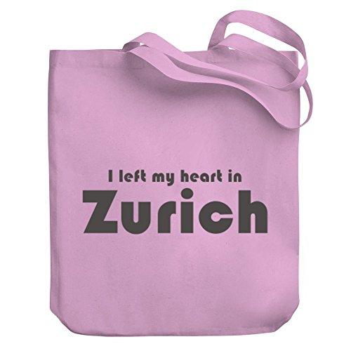Teeburon I left my heart in Zurich Canvas Tote - Shopping In Zurich