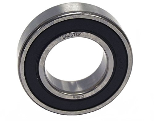 Shuster 6808 2RS Deep Groove Ball Bearing, Single Row, Double Sealed, Normal Clearance, ABEC 1 Precision, 52 mm Height, 7 mm Width, 52 mm Length, 40 mm ID, High Carbon Chrome Bearing Steel