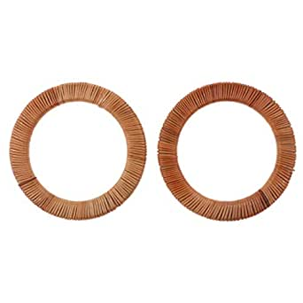 Prettyia 2PCS DIY Wooden Purse Bag Handle Frame Rattan Replacement for Handmade Bag Handbags Tote Purse Making Supplies