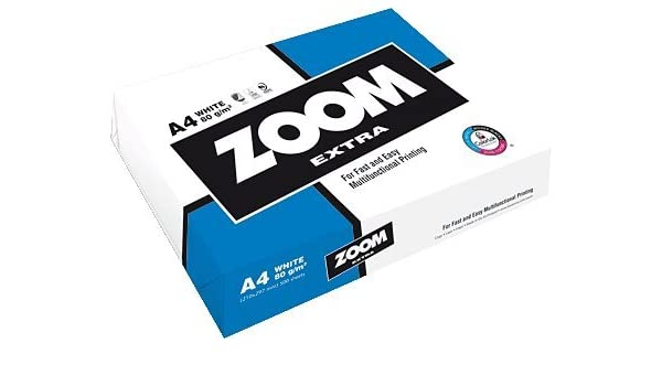 Zoom EXTRAA4 - Pack de 500 hojas de papel para fotocopiadora, 80 g, A4: Amazon.es: Oficina y papelería