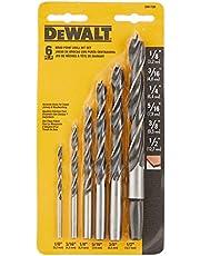 DEWALT Drill Bit Set, Brad Point, 6-Piece (DW1720),Black