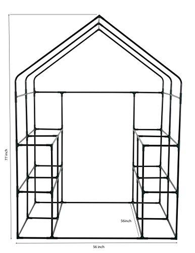 Ogrow Deluxe WALK-IN 6 Tier 12 Shelf Portable GREENHOUSE by OGrow (Image #6)