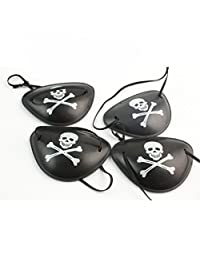 Paialco Pirate Eyepatch Costume Accessory Pack of 4