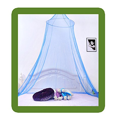 ACE Graceful Beatiful Elegant Netting Bed Canopy Mosquito Net Sleeping (Blue)