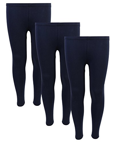 'Delia's Girls Solid Leggings (Pack of 3) Navy, 7/8' by dELiA*s