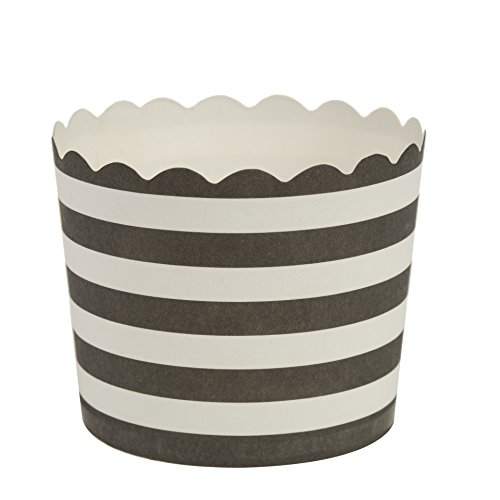 Blue Sky 1253 20 Count Scalloped Design Cupcake Baking Cups, Small, Gold/White
