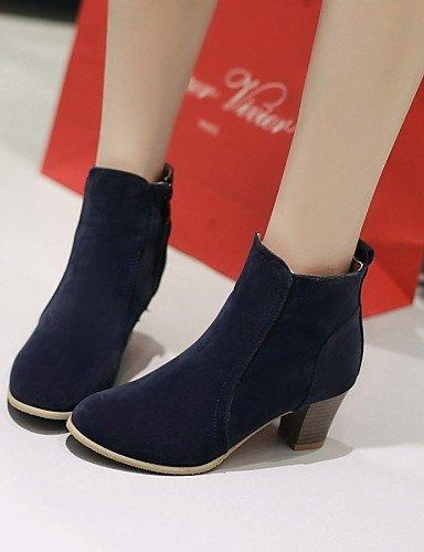 Eu42 Xzz Amarillo us9 negro Redonda Botas us10 Eu40 Blue Mujer Robusto 5 Moda us10 Dark Beige De Vestido Vellón Rojo Cn43 5 La Punta Casual Zapatos Blue Tacón A Cn41 Uk7 Uk8 Red B6CxqZwrB