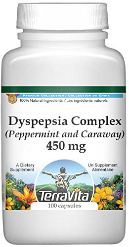 Dyspepsia Complex - Peppermint and Caraway - 450 mg (100 Capsules, ZIN: 517180) - 3 Pack by TerraVita (Image #1)