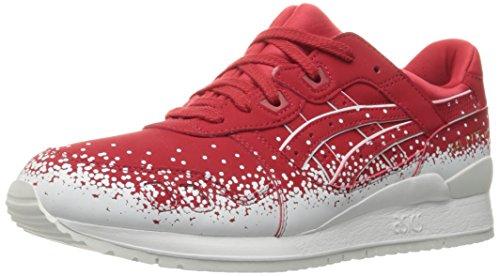 ASICS Mens Gel-Lyte III Fashion Sneaker, Red, 13 M US