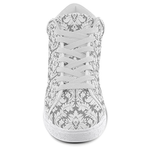 Women Chukka Artsadd For Grey Shoes Canvas and White Damask Model003 Pattern wwUSRHgq