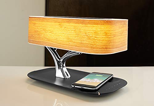 Sharper Image Bonsai Bluetooth Speaker Lamp with Wireless Charging Pad by Sharper Image