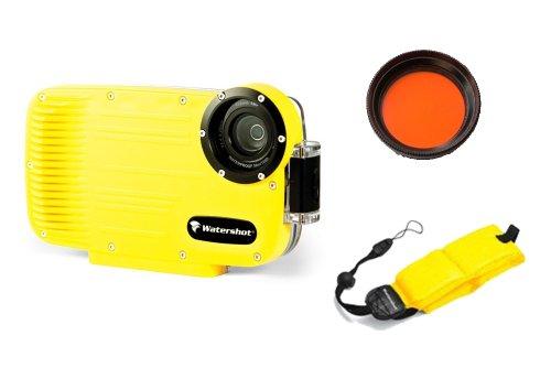 iPhone 4 & 4S Underwater Waterproof Housing Case, Red Filter, Buoyancy Strap Package by Watershot