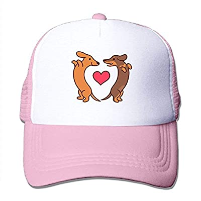 BHUIA Cute Dachshunds Adjustable Snapback Baseball Cap Mesh Trucker Hat by BHUIA