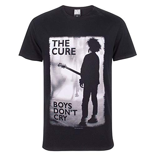 Amplified The Cure Mens Boys Don`t Cry T-Shirt (XL) (Black)