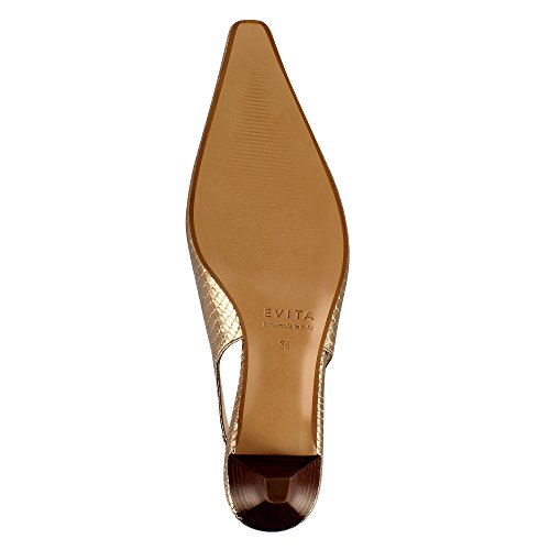 Evita Shoes Lia - Zapatos de vestir de Piel para mujer dorado