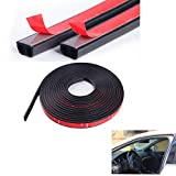 Universal Automotive EPDM Rubber Seal Strip 4M B-Shape Self Adhesive Car Truck Door Window Hollow Weather Strip Soundproof Noise Insulation Sealing