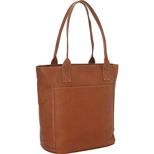 Piel Leather X-Large Laptop Tote Bag, Saddle, One Size by Piel Leather