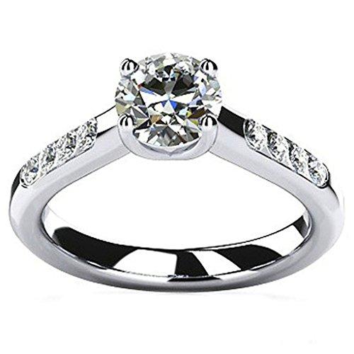 Epinki Custom Ring-925 Sterling Silver Womens Anniversary Wedding Bands Cubic Zirconia Elegant US Size 9
