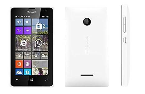 microsoft phone white. microsoft lumia 435 uk sim-free smartphone - white: amazon.co.uk: electronics phone white